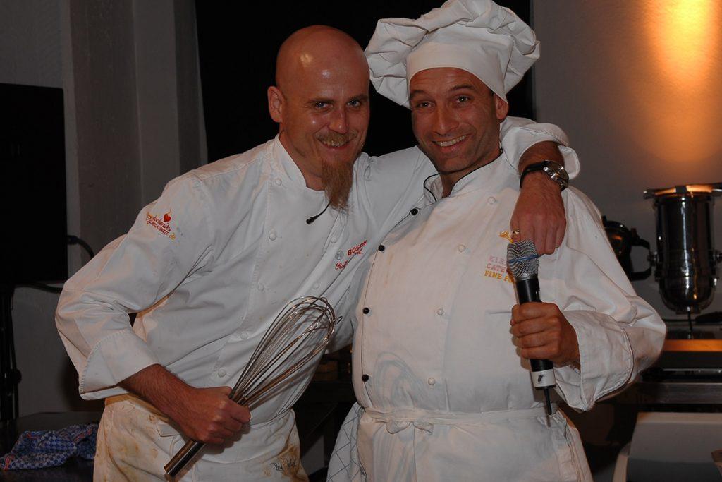 Koch-Show Zachal und Leiste auf einer Firmenfeier