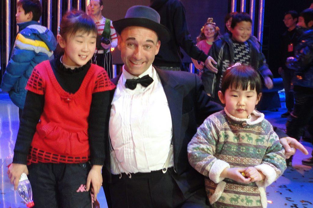 TV Show Leiste auf dem Humorfestival in Peking