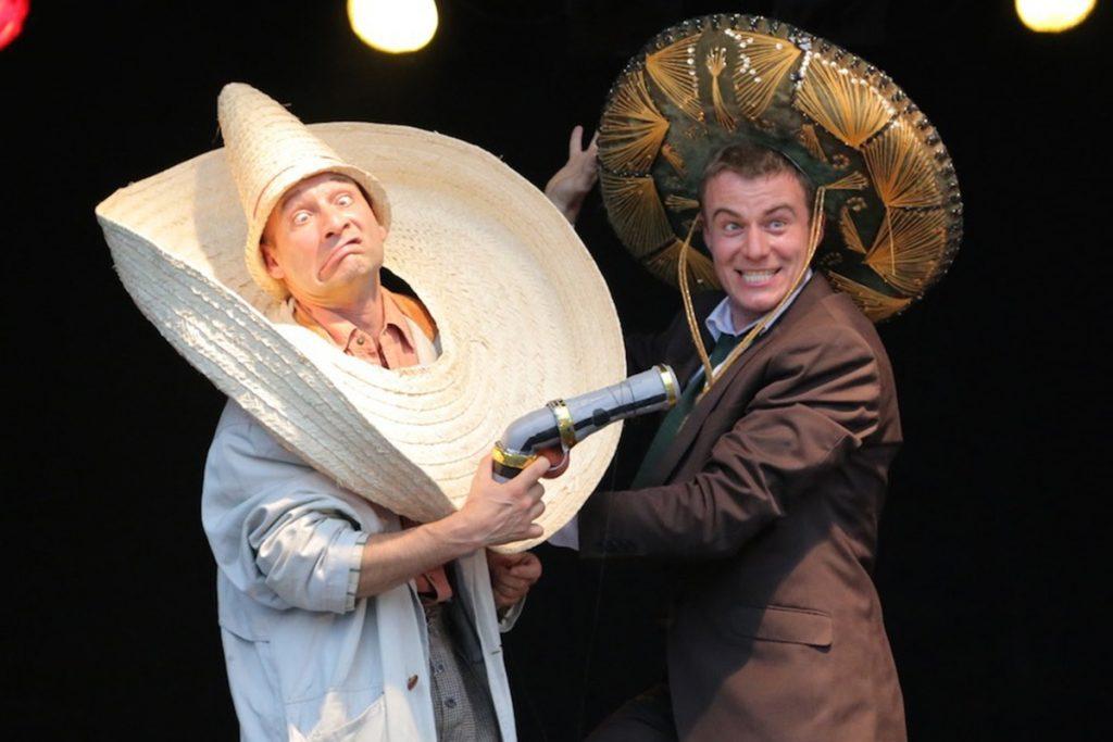 Western Show Tébé & Leiste das Duell auf einem Firmenevent